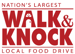 walk and knock logo red